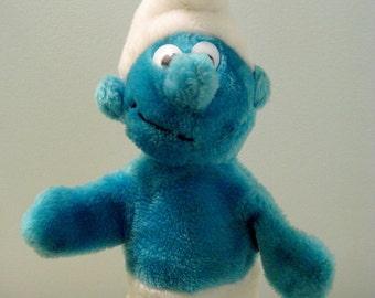 Vintage Smurf Hand Puppet