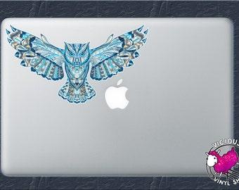 Sugar Skull Color Vinyl Decal Sticker Car Window MacBook - Owl custom vinyl decals for car