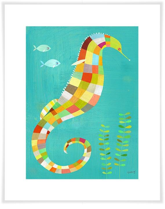 Under the Seahorse Art Print