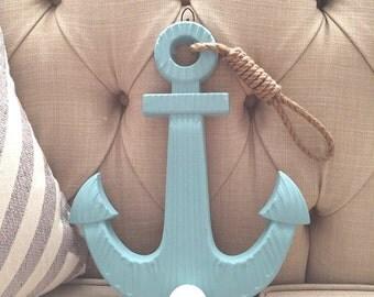 Wooden Anchor, Large Anchor, Nautical Decor, Beach Decor, Anchor Decor, Nautical Party, Nautical Theme, Baby Room Decor, Nautical Nursery