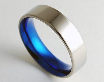 Mens Wedding Band , Mens Titanium Ring , Mens Titanium Wedding Band , Mens Titanium Promise Ring , Apollo Band  with Comfort Fit Interior