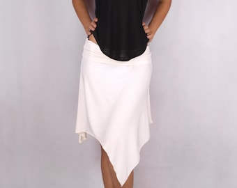 Drop Top in Rayon Jersey Slub BLACK - Dance wear, Yoga wear