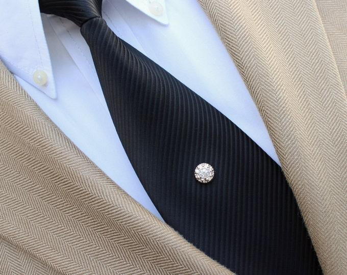 Tie Pin, Gold Tie Pin, Gold Tone Tie Tack, Mens Tie Pin, Mens Tie Tack, Tie Tacks, Small Tie Tack Pin, Mens Fashion, Mens Accessories