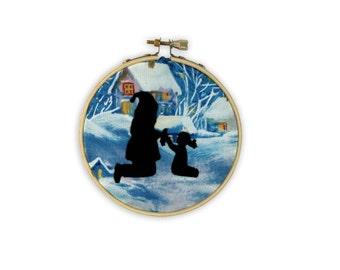 Hoop Art: Santa and Child