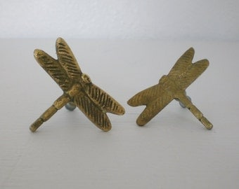 Vintage Brass Dragonfly Drawer Pulls Aram Dragonflies Cabinet Handles Mid Century Home Decor GallivantsVintage