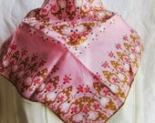 70s Vera Neumann Scarf in Pink and Brown