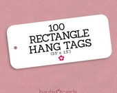100 Custom Hang Tags, Clothing Hang Tags