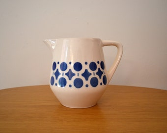 Mid Century German Ceramic Pitcher with Air Brush Design by Brigitte