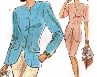 Vogue 7998 Misses' Top and Skirt Sewing Pattern - Uncut - Size 12, 14, 16 - Bust 34, 36, 38