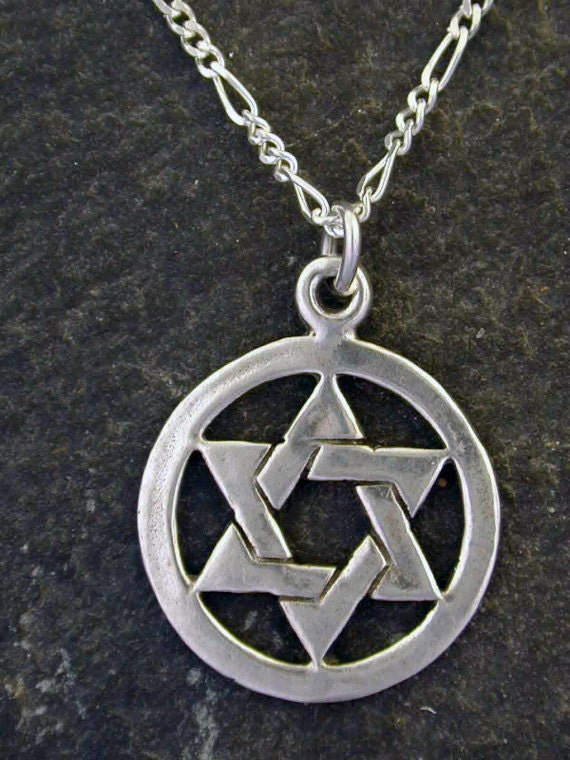 Sterling Silver Star of David Pendant on Sterling Silver Chain.