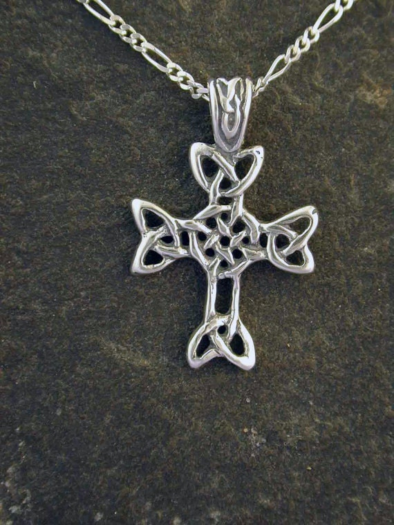 Sterling Silver Celtic Cross Pendant on a Sterling Silver Chain