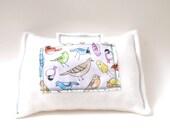 Tooth Fairy Pillow - Lavender Sachet - Organic Cotton - Bird - Whimsical -  Eco Friendly - Children - Organic Baby