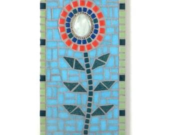 Mosaic Flower Wall Decor, 6x12 mosaic art