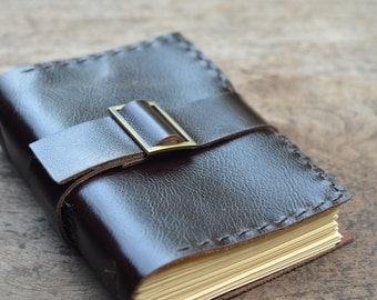 "Nouvelle Style / Leather Journal / Handmade / Diary / 6""X4"" / FREE initials / Plain or LINED"