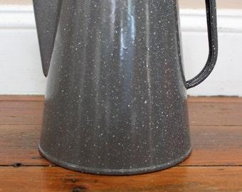 Cofee Time... Vintage Enamel Coffee Pot Percolator