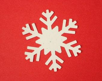 25 Frozen Fever Large Stardust White Snowflake punch die cut confetti scrapbook embellishments craft supplies - No851
