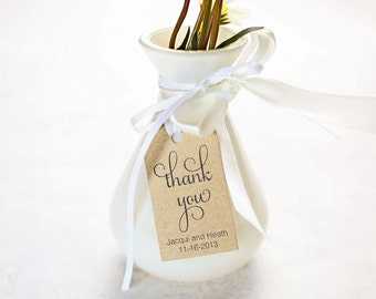 Thank You Wedding Favor Tags, Wedding Shower Gift Tag, Party Favor, Personalized Label, Business Packaging Card - Set of 25 (SMGT-SAM) thx