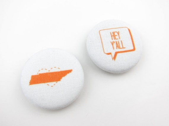 Hey Y'all Tennessee: Set of 2 Fabric Magnets