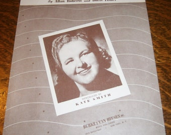 Prove It By the Things You Do 1940s Vintage Sheet Music Introduced by Kate Smith