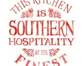 This Kitchen is Southern Hospitality at its Finest (Large red)
