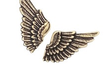 Ox Brass Stamping Small Wings One Pair Heirloom Quality for Jewelry Making Made in the USA Dr Brassy Steampunk