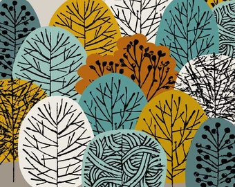 Treetops, limited edition giclee print