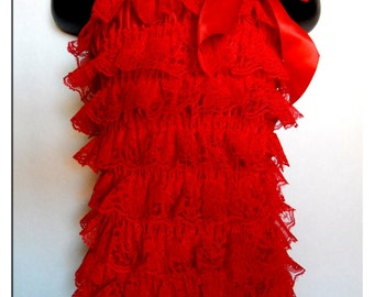 Destashing Sale!!! Red Lace Romper - 2-3 Years