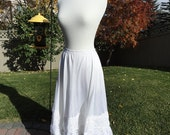 Flirty, Lacey White on White Swing Underskirt Slip Upcycled Altered Couture