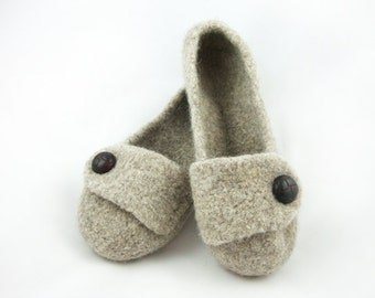 Size 5/6 - Ready-To-Ship - Barley Womens Felted Wool Slippers