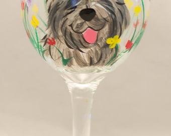 Irish wolfhound wine glasses CUSTOM set of 2