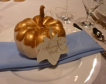 Autumn maple leaf place cards or gift cards