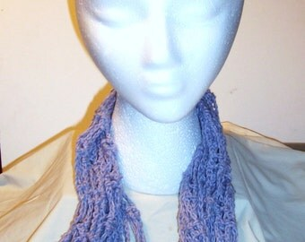 Lavender Heather Cotton Mesh Infinity Scarf