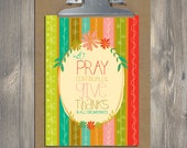 Christian Gift, Scripture art, Bountiful Blessings - Pray Continually, Christian art print
