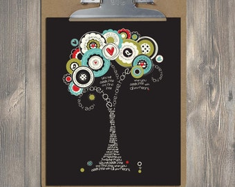 Christian Gift, Scripture Art, Jeremiah 29:11 HOPE Bible verse tree, Christian art print