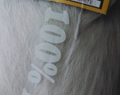 White Silver Kanekalon Jumbo Braid - 100% Synthetic Hair for Dreads, Braids, Extensions, Falls