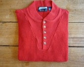 Vintage Field Master Pullover Sweater, Coral