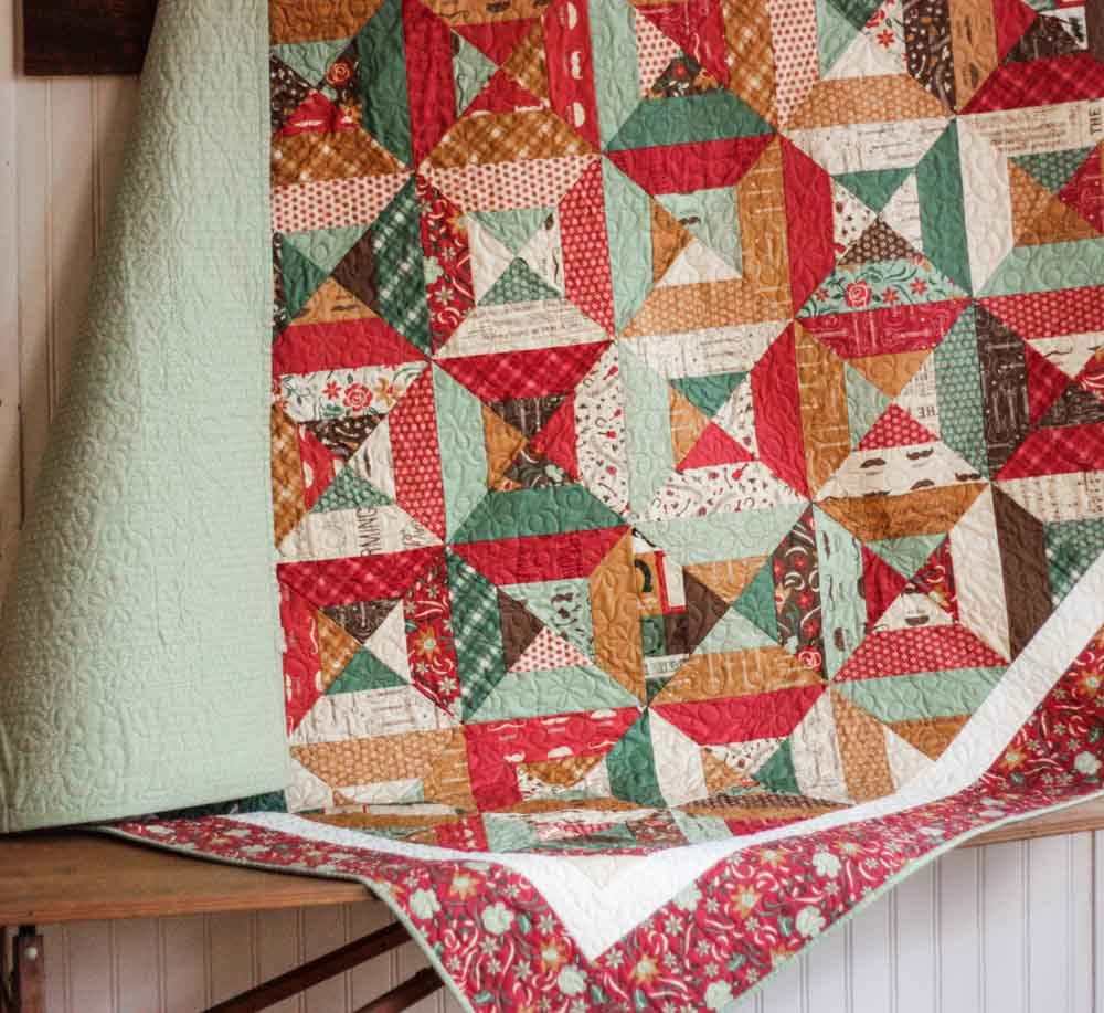 Honky tonk lap quilt ready to ship for Spaceship quilt
