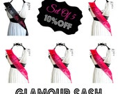 Set of 5  Bachelorette Sashes You Choose Colors and Titles