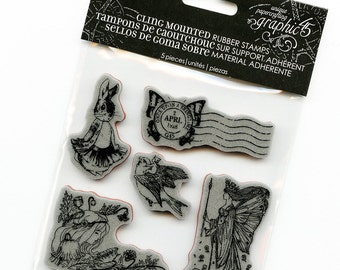 Cling Mounted Rubber Stamps from Graphic 45 - Once Upon a Springtime #2