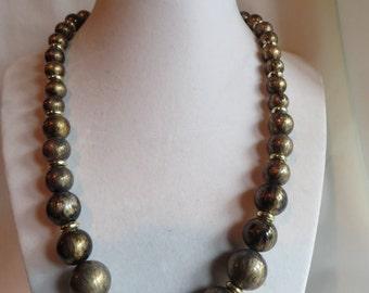 "18 1/2"" Copper  Beaded Necklace, Necklace, Copper, Beaded"
