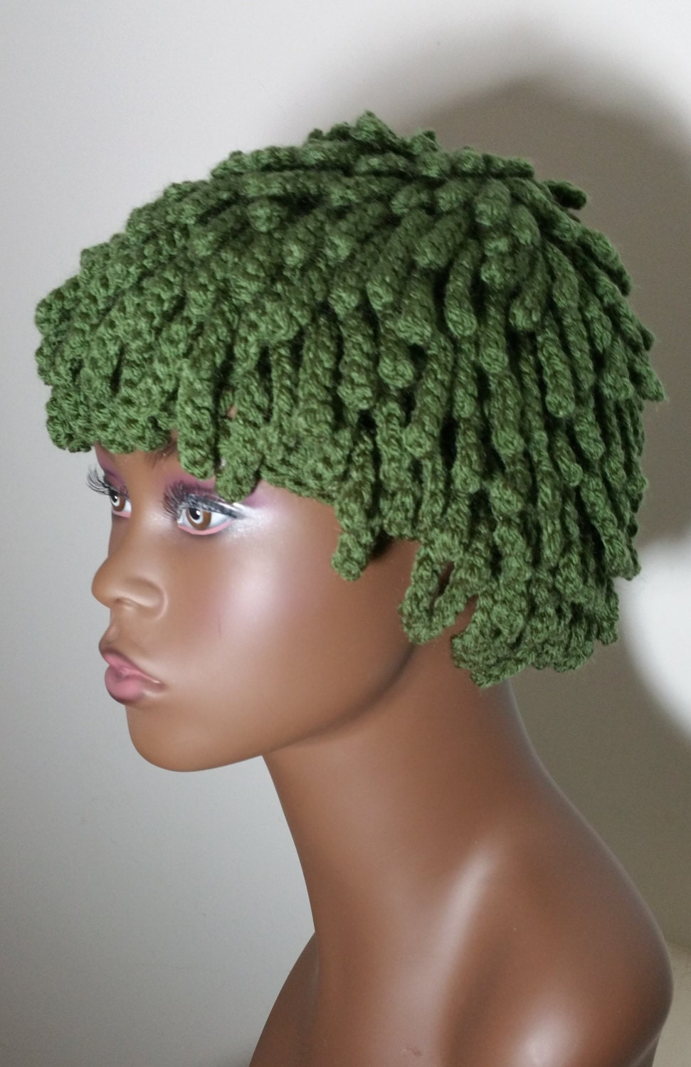 Knitting Pattern For Nudu Hat : Dreadlocks hat Nudu Beanie Nudu Hat Ski Hat Wig Hat Twists