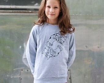 SALE Cat Sweater, Cat Shirt, Kids Sweater, 2T-12Yrs