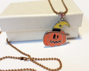 Sale! Halloween Pumpkin Necklace