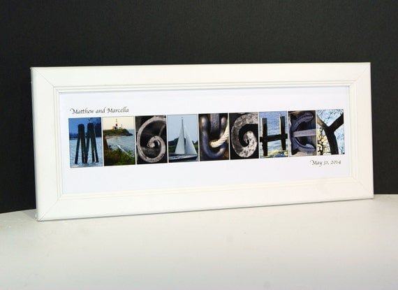 how to make last name picture frames