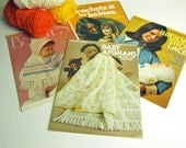 DIY knit and crochet for babies leaflets - vintage 1970s leaflets for afghans, sweaters, leggings, jackets, ponchos more - retro DIY