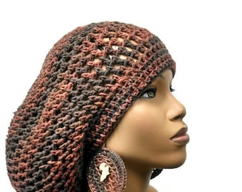 PATTERN ONLY Crochet Slouch hat Dreadlock Hat Slouchy Beanie with drawstring