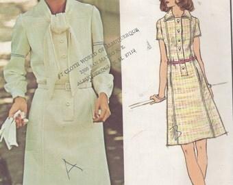 1960's Full Figure Misses' Dress Vogue Paris Original Pierre Balmain 2827 Size 18 Bust 40 Hip 42