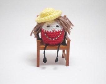 Little Crochet People, Desk Toy, Tiny People, Little People, Ms Ruby