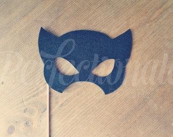 Felt Super Hero Mask Prop | Super Hero Photo-Booth Prop | Cat Mask | Super Hero | Super Hero Photo Booth Props