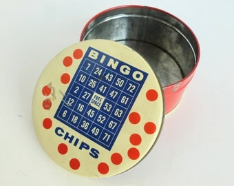 Bingo Chips Tin Valerie Sweets Candy Storage Container